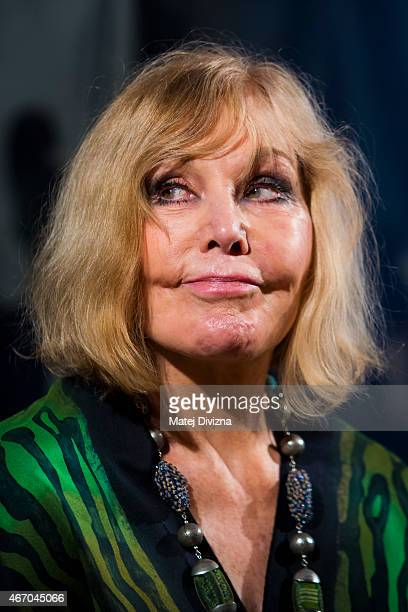 Kim Novak poses at a photocall during the Febiofest Prague International Film Festival on March 20 2015 in Prague Czech Republic