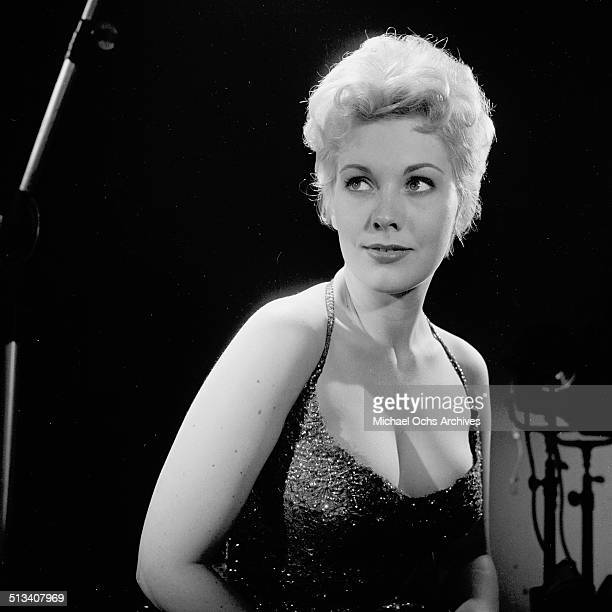 Kim Novak poses for a portrait on stage in Los Angeles,CA.