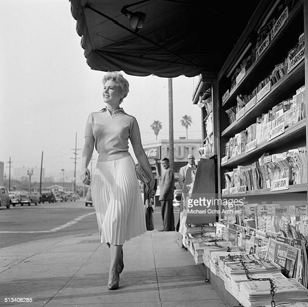 Kim Novak poses for a portrait on the streets in Los AngelesCA