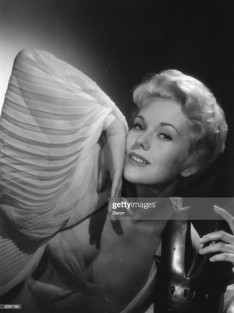 Kim (Marilyn Pauline) Novak (1933 - ), the Hollywood film actress and star whon appeared in films such as 'Pal Joey' 1957, 'Bell, Book and Candle' 1958, 'Vertigo' 1958, and 'Kiss Me Stupid' 1964.