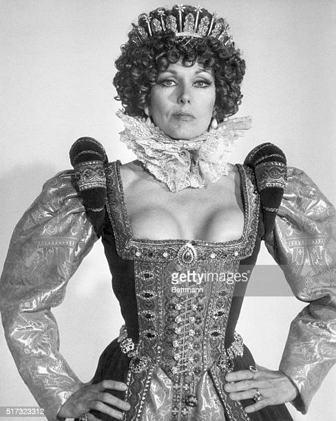 Kim Novak wears an elaborate costume in the film The Mirror Crack'd. Novak portrayed an actress in the film, who, in turn, plays the role of Queen...