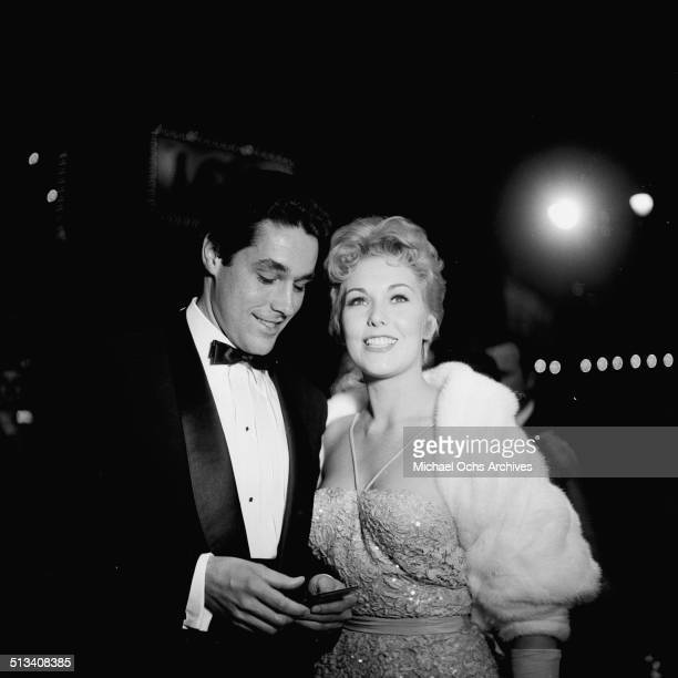 Kim Novak with guest attend the Academy Awards in Los AngelesCA
