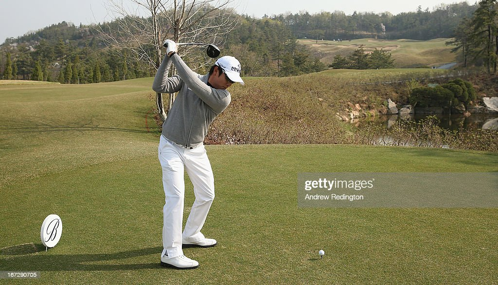 KT Kim of Korea in action during the Pro Am tournament prior to the start of the Ballantine's Championship at Blackstone Golf Club on April 24, 2013 in Icheon, South Korea.