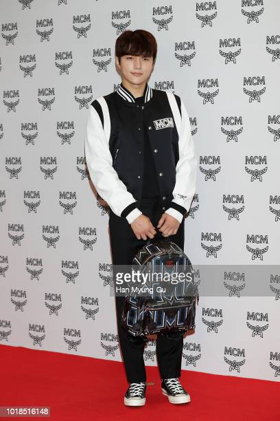 L Kim of South Korean boy band Infinite attends the photocall for MCM at the Lotte Department Store on August 17 2018 in Seoul South Korea