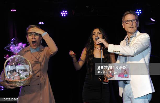 Kim Patteri, Liana Ramirez and Robert Patteri participates in the EP Release Party for Jade Patteri held at The Federal NoHo on September 21, 2021 in...