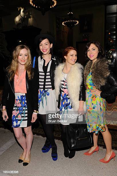 Kim Pesch Keiko Lynn Alicia Lund and Christine Cameron attend the COREY Fall 2013 Launch Party hosted by Nora Zehetner at The Jane Hotel on April 3...