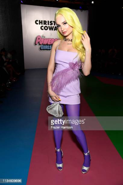 Kim Petras attends the Christian Cowan x The Powerpuff Girls fashion show at City Market Social House on March 08, 2019 in Los Angeles, California.