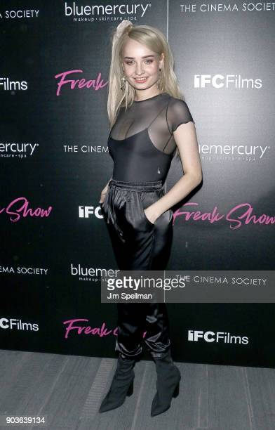 "Kim Petras attends the premiere of IFC Films' ""Freak Show"" hosted by The Cinema Society and Bluemercury at Landmark Sunshine Cinema on January 10,..."