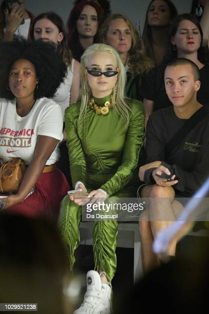 Kim Petras attends the PRISCAVera Front Row during New York Fashion Week The Shows at Gallery II at Spring Studios on September 8 2018 in New York...