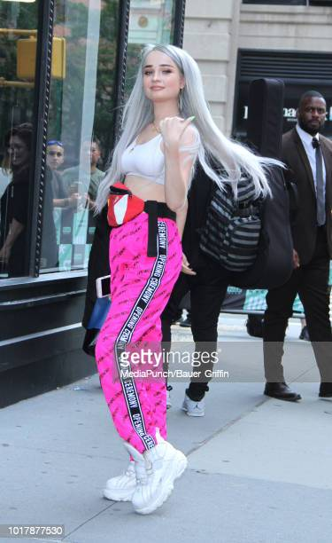 Kim Petras is seen on August 16, 2018 in New York City.