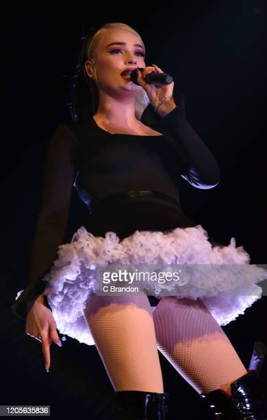Kim Petras performs on stage at the O2 Shepherd's Bush Empire on February 11, 2020 in London, England.