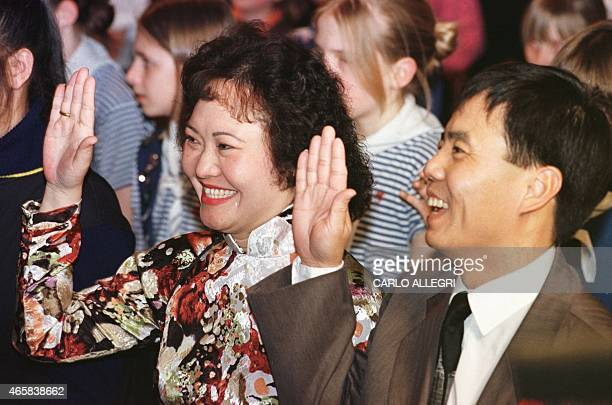 Kim Phuc and her husband Toan are sworn in as Canadian Citizens at a ceremony in Toronto Canada 11 February Phuc was the subject of a 1972 photograph...