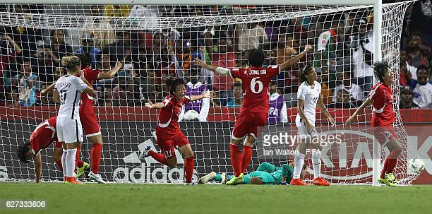 Kim Phyong Hwa of Korea DPR celebrates scoring a goal during the FIFA U20 Women's World Cup Final match between Korea DPRand France at the National...