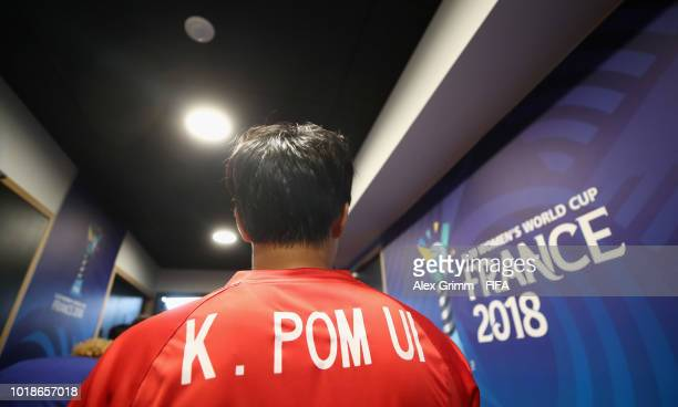 Kim Pom Ui of Korea DPR waits in the tunnel prior to the FIFA U20 Women's World Cup France 2018 Quarter Final quarter final match between France and...