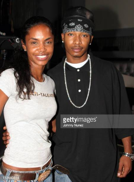 Kim Porter and Chingy during Behind The Scenes Of The Movie 'The System Within' 22 July 2005 at Rasputin in Brooklyn New York United States