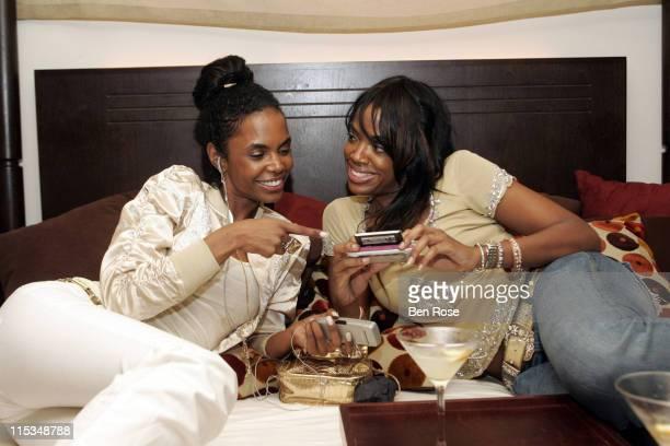 Kim Porter and Eboni Elektra during BED Atlanta Grand Opening VIP Party February 16 2006 at BED Atlanta in Atlanta GA United States