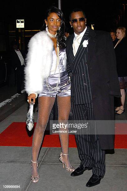 Kim Porter and Sean Combs during Usher's 26th Birthday Party at Rainbow Room in New York City New York United States