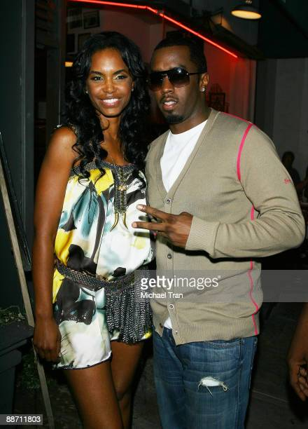 Kim Porter and Sean Diddy Combs arrive at ''The Rock N Roll of Hip Hop'' party held at The Celebrity Vault on June 26 2009 in Beverly Hills California
