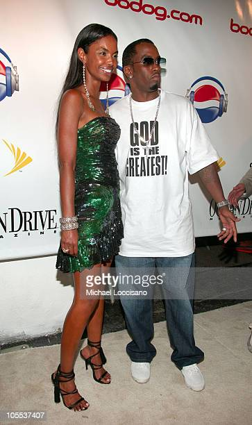 Kim Porter and Sean 'Diddy' Combs during 2005 MTV VMA Diddy Hosts 'The One And Only Official After Party' at Space in Miami Florida United States