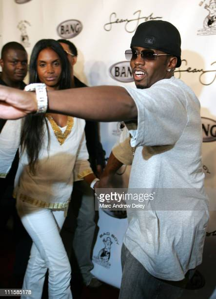 Kim Porter and Sean 'Diddy' Combs during 2005 MTV VMA Sean 'Diddy' Combs Hosts VMA Party at Mansion at Mansion in Miami Florida United States