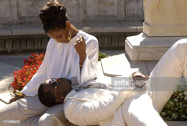 Kim Porter and Sean Diddy Combs during Sean Diddy Combs Shoots a Campaign for New Sean John Fragrance with Kim Porter in Monaco at Monte Carlo in...