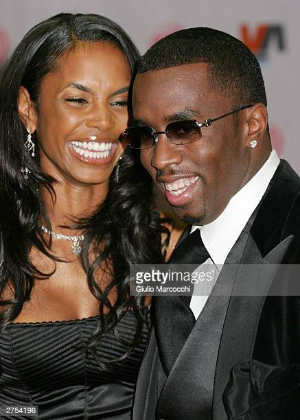 Kim Porter and Sean P Diddy Combs attends the Vibe Awards Beats Style Flavor at the Santa Monica Civic Center November 20 2003 in Santa Monica...
