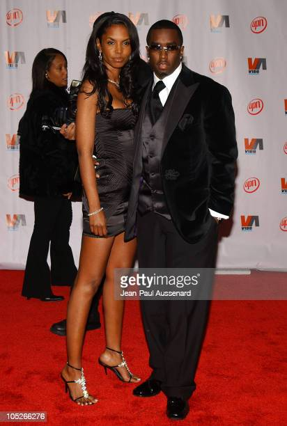 Kim Porter and Sean 'P Diddy' Combs during 2003 VIBE Awards Arrivals at Civic Auditorium in Santa Monica California United States