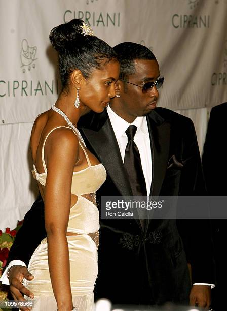 Kim Porter and Sean 'P Diddy' Combs during Royal Birthday Ball for Sean 'P Diddy' Combs Arrivals at Cipriani's in New York City New York United States