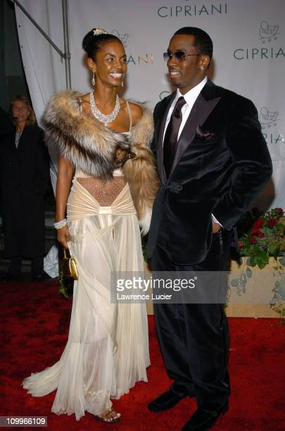Kim Porter and Sean P Diddy Combs during Royal Birthday Ball for Sean P Diddy Combs at Cipriani Wall Street in New York City New York United States