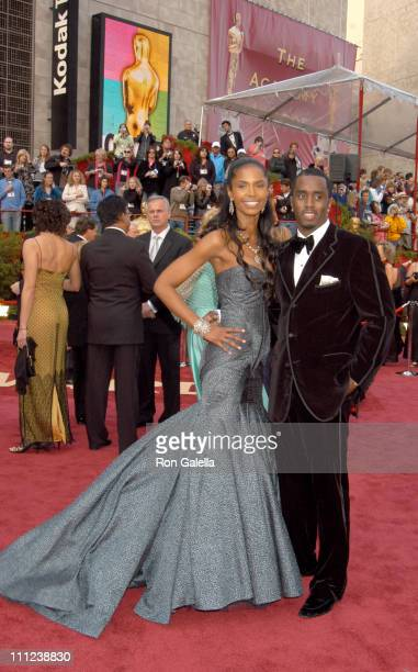 Kim Porter and Sean 'P Diddy' Combs during The 77th Annual Academy Awards Arrivals at Kodak Theatre in Hollywood California United States