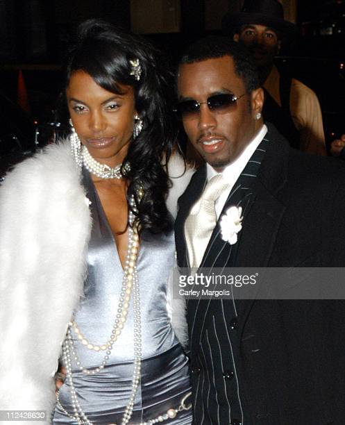 Kim Porter and Sean 'P Diddy' Combs during Usher's 26th Birthday Party at Rainbow Room in New York City New York United States