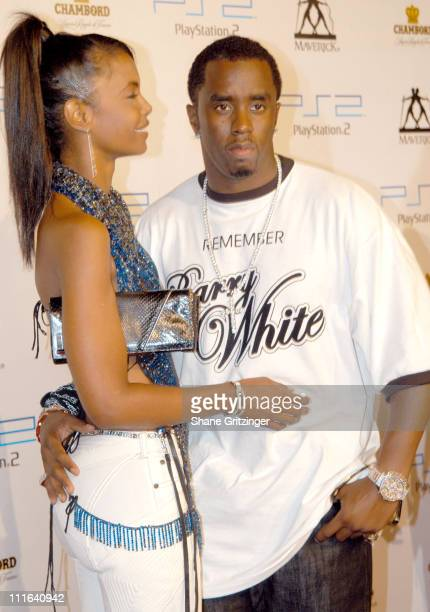 Kim Porter and Sean 'PDiddy' Combs during 2003 MTV Video Music Awards Playstation 2 and Guy Oseary After Party at The Four Seasons Restaurant in New...