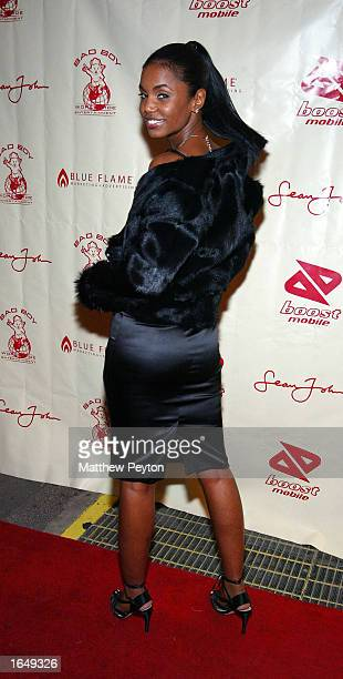Kim Porter arrives at P Diddy's Birthday Party at New York's Supper Club on November 18 2002 in New York City