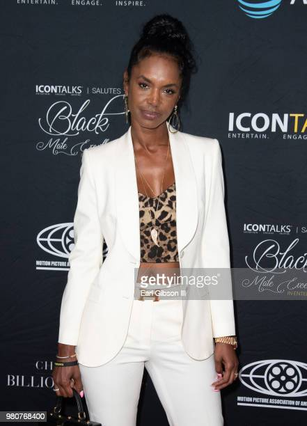 Kim Porter attends ICON Talks And Motion Picture Association Of America Host Black Male Excellence at SLS Hotel on June 21 2018 in Beverly Hills...