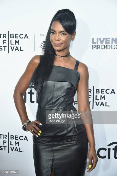 Kim Porter attends the Can't Stop Won't Stop The Bad Boy Story Premiere on April 27 2017 in New York City
