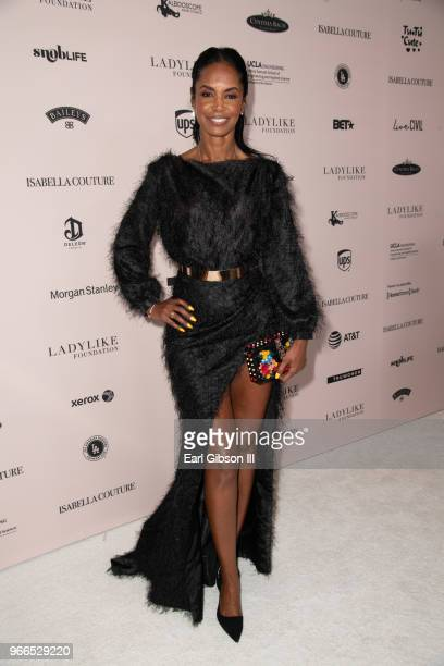 Kim Porter attends the Ladylike Foundation's 2018 Annual Women Of Excellence Scholarship Luncheon at The Beverly Hilton Hotel on June 2 2018 in...
