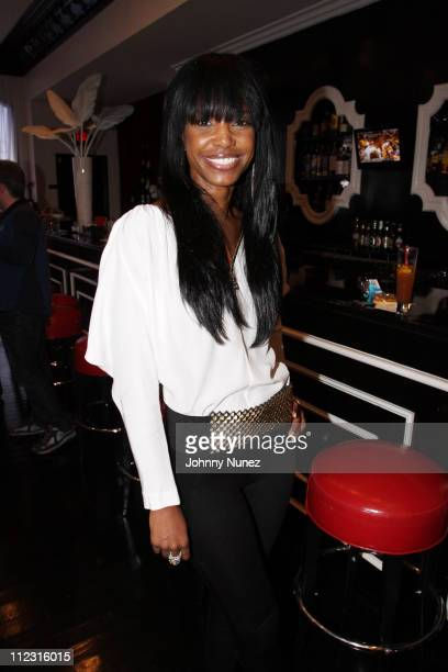 Kim Porter celebrates Estelle's upcoming album at Philippe Chow's on January 30 2010 in Los Angeles California
