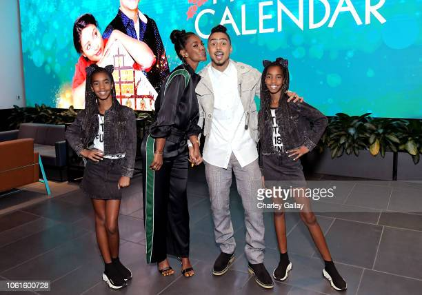 Kim Porter Quincy Brown D'Lila Star Combs and Jessie James Combs attend The Holiday Calendar Special Screening Los Angeles at NETFLIX Icon Building...