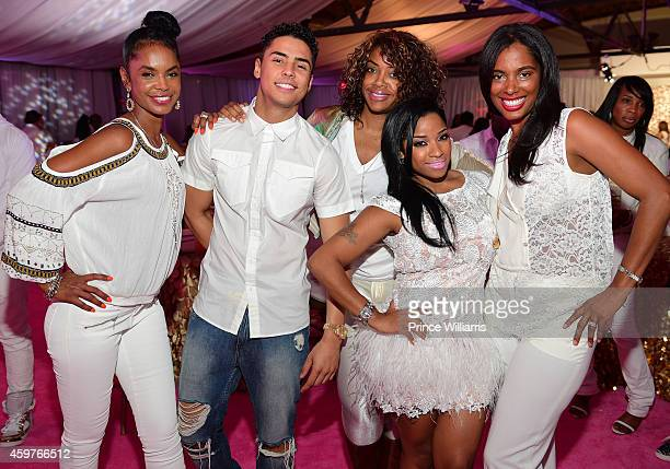 Kim Porter Quincy Brown Eboni Elektra Antonia 'Toya' Wright and Nicole CookeJohnson attend Reginae's All White Sweet 16 birthday party at Summerour...