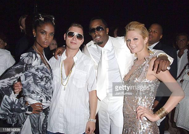 Kim Porter Scott Storch Sean 'P Diddy' Combs and Paris Hilton