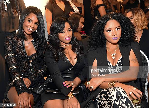 Kim Porter Toya Wright and Rasheeda Frost attend The Live Die For Hip Hop Black Out Gala at Woodruff Arts Center on September 6 2014 in Atlanta...