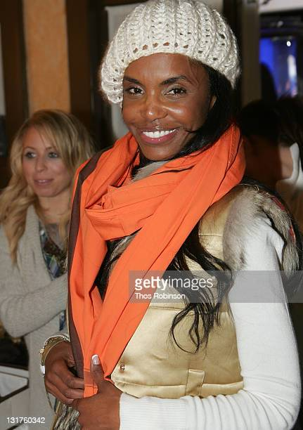 Kim Porter visits the Sephora Beauty Lounge on January 17 2009 in Park City Utah