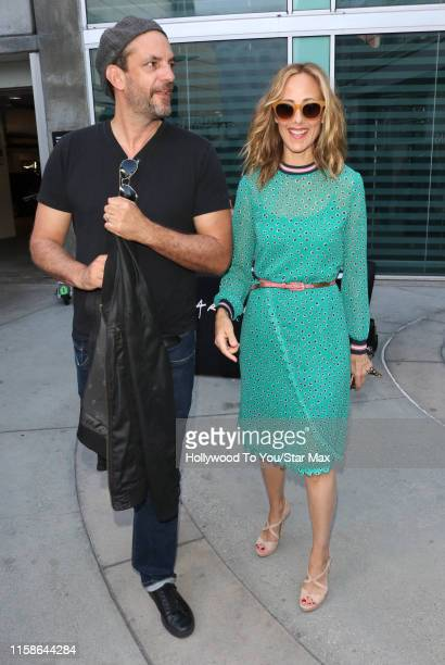 Kim Raver and Manu Boyer are seen on July 29 2019 at Los Angeles