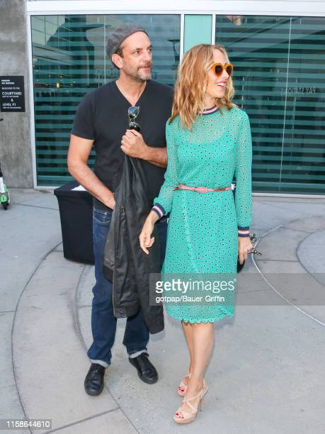 Kim Raver and Manu Boyer are seen on July 29 2019 in Los Angeles California