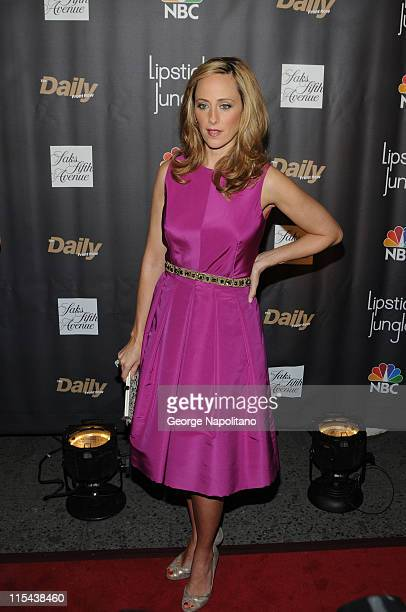 Kim Raver arrives at Saks Fifth Avenue for NBC and Saks Fifth Avenue host Premiere of Lipstick Jungle on January 31 in New York City