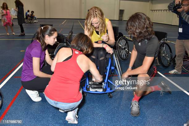 Kim Raver attend 2019 Angel City Games Celebrity Wheelchair Basketball Game Presented By The Hartford on June 22 2019 in Los Angeles California