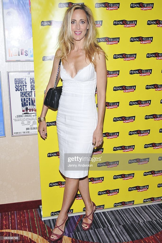 Kim Raver attends 'Penn & Teller On Broadway' at Marquis Theatre on July 12, 2015 in New York City.
