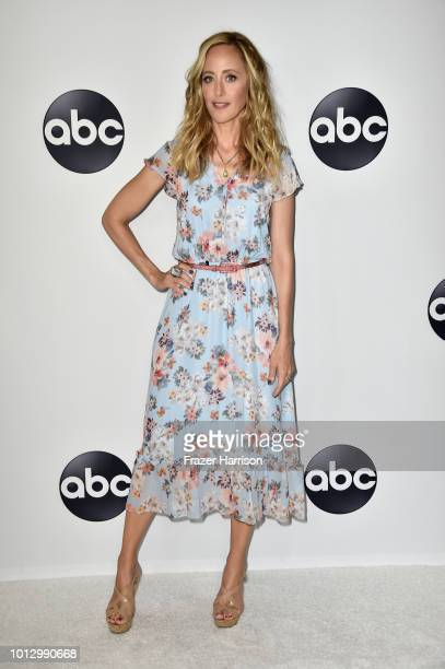Kim Raver attends the Disney ABC Television TCA Summer Press Tour at The Beverly Hilton Hotel on August 7 2018 in Beverly Hills California