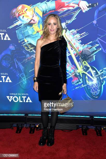 Kim Raver attends the LA Premiere Of Cirque Du Soleil's Volta at Dodger Stadium on January 21 2020 in Los Angeles California
