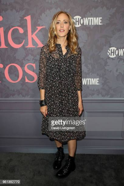Kim Raver attends the premiere of Showtime's 'Patrick Melrose' at Linwood Dunn Theater on April 25 2018 in Los Angeles California